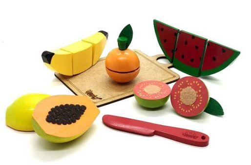 Coleção Comidinhas - Kit Frutas de Corte (5 peças)