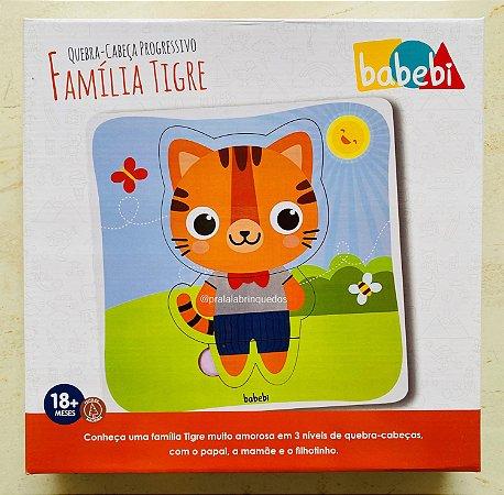 Quebra-cabeça Progressivo Família Tigre