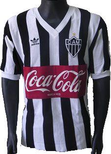 Camisa Retrô Atlético Mineiro 1980 Coca Cola