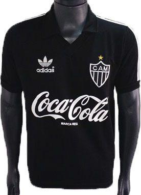 Camisa Retrô Atlético Mineiro 1986 Coca Cola Preta