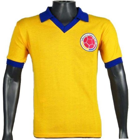 Camisa Retrô Seleção Colombiana Colombia