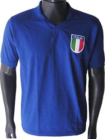 Camisa Retrô Seleção Italiana Itália 1981