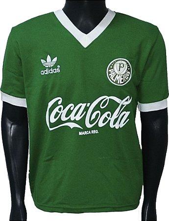 Camisa Retrô Palmeiras Coca Cola Verde 1989
