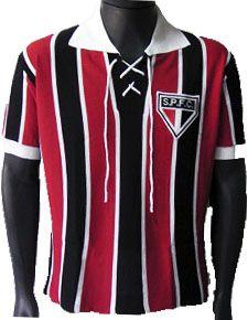 Camisa Retrô São Paulo SPFC Tricolor c/ Cordinha