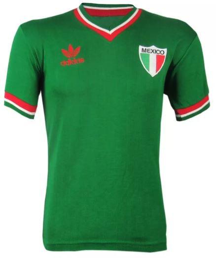 Camisa Retrô Seleção Mexicana México 1970