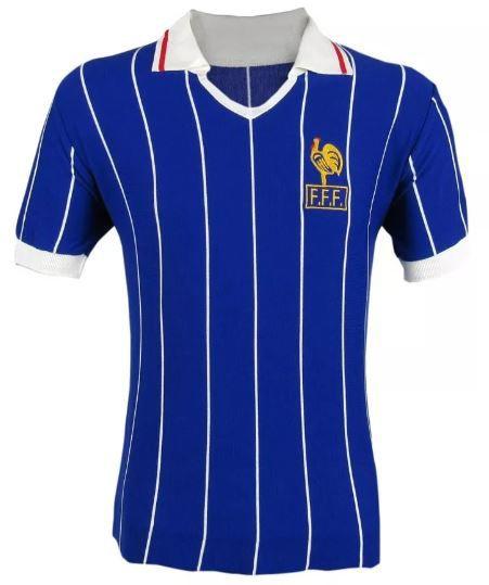 Camisa Retrô Seleção Francesa França 1982