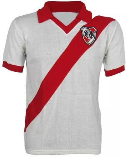 Camisa Retrô River Plate Argentina Gola Polo