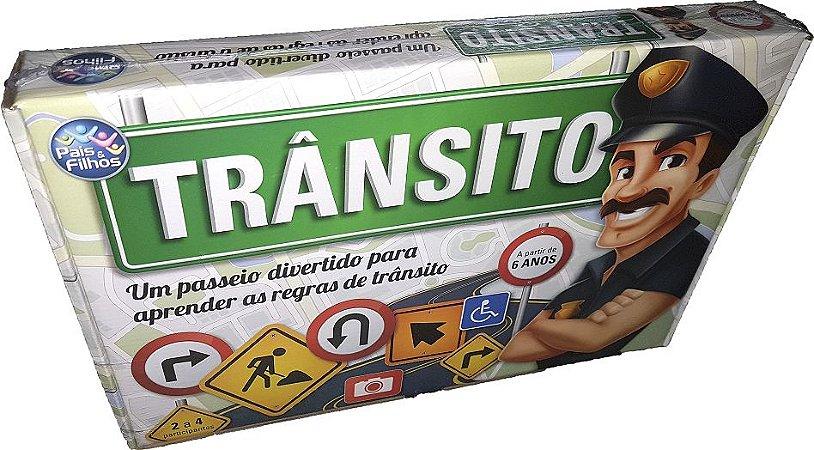 Jogo Trânsito Tabuleiro Aprenda Regras Pais & Filhos - 33266