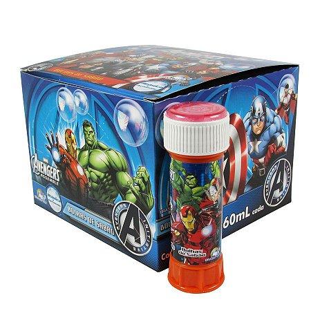 Bolinhas Bolhas Sabão Vingadores Avengers Atóxica 60ml C/ 12