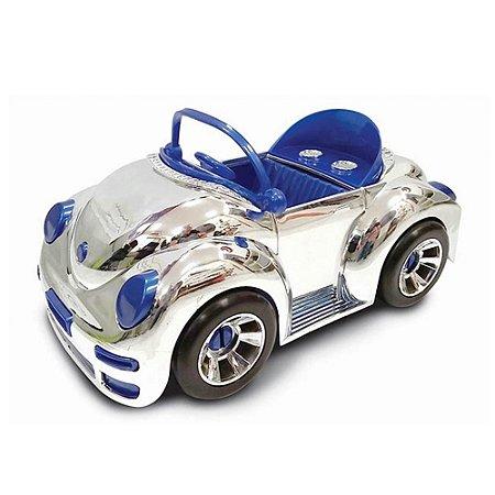 Carrinho Cromado Conversivel Carro Beetle 38 Cm Top Car