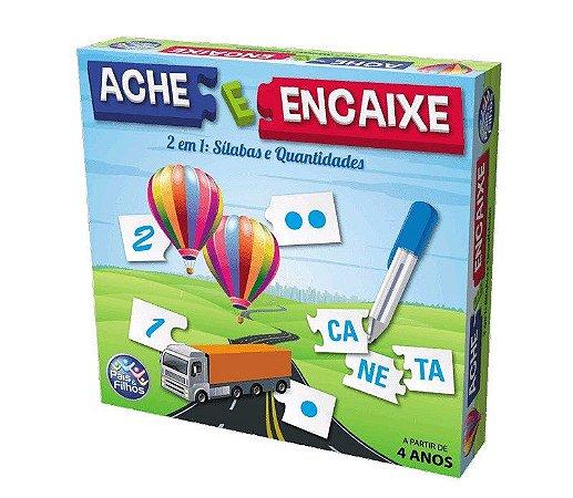 Jogo Didático Ache E Encaixe 2 Em 1 Sílabas e Quantidades