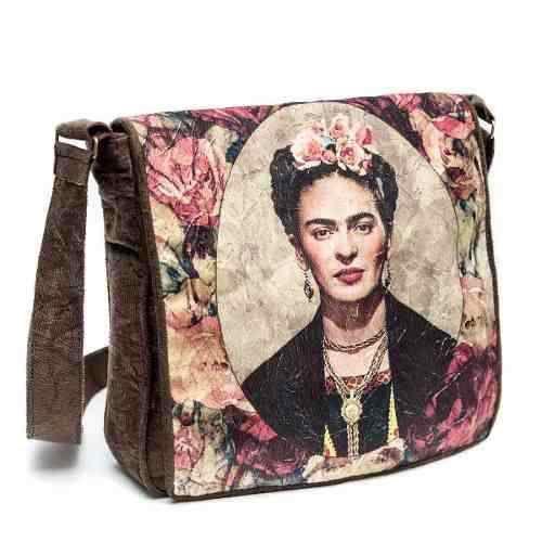 Bolsa Feminina Retrato Kahlo Floral Artista Mexicana Tampa