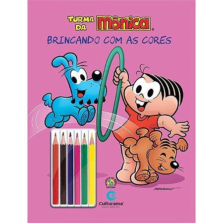 Livro Turma da Mônica 36 Paginas c/ Lapis Ler Colorir