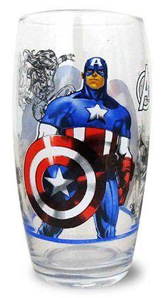 Copo Long Drink Capitão América 430ml Nadir Figueiredo