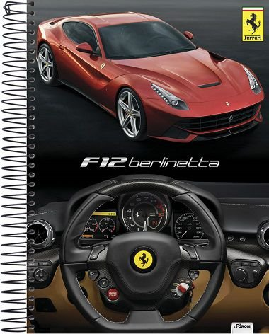 Caderno Universitário Ferrari F12 New