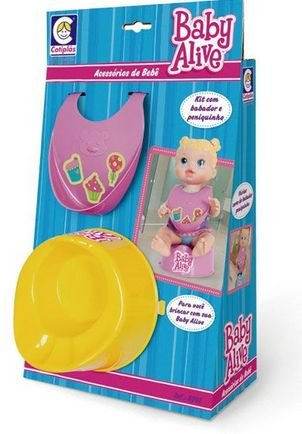 Brinquedo Kit Babador Pinico Baby Alive New
