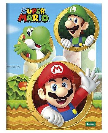 Caderno Brochurão Super Mario  3 New