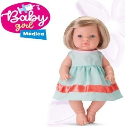 Boneca Baby Girl Dodoi Médica Frases New