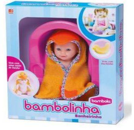 Boneca Bambolinha Banheirinha New