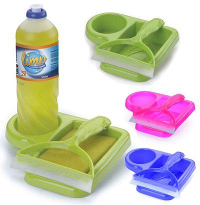 Kit Porta Detergente e Rodo New