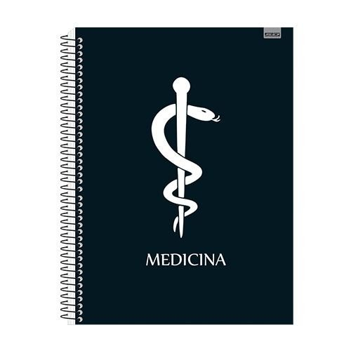 Kit 4 Cadernos Universitário Medicina 1x1 96 fls. New