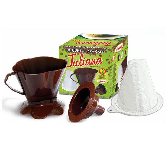 Conjunto Coador Café Juliana New