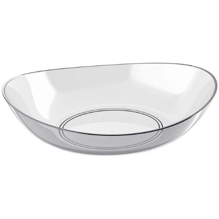 Saladeira Oval Transparente 4LTS New