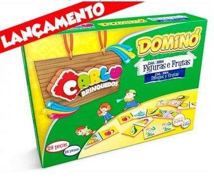 Jogo Educacional Dominó Figuras e Frutas 28PCS New