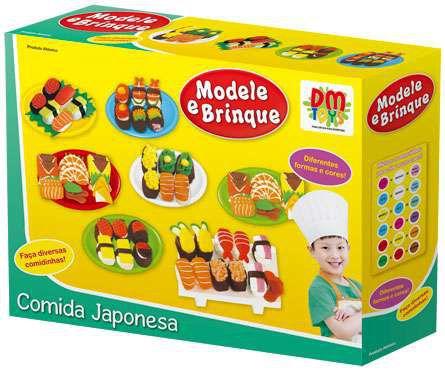 Kit Massinha Modele e Brinque comida japonesa New