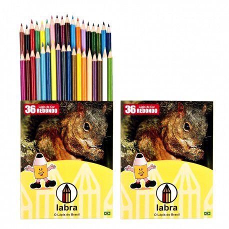 Lápis de Cor Natureza 36 cores Labra New