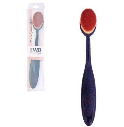 Pincel Escova Maquiagem Oval Multiuso Make Toque Macio
