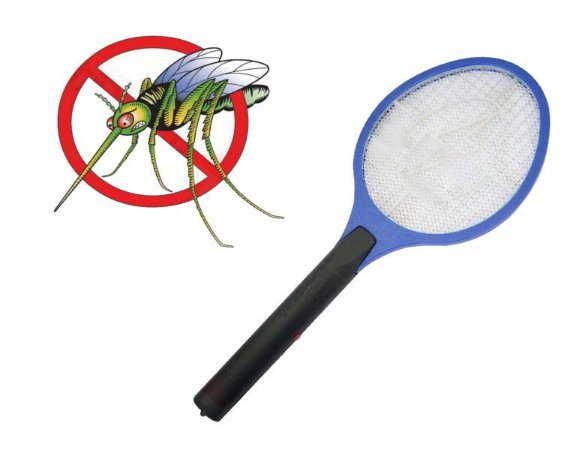 Raquete Mata Mosquitos e Insetos Recarregavel Bivolt
