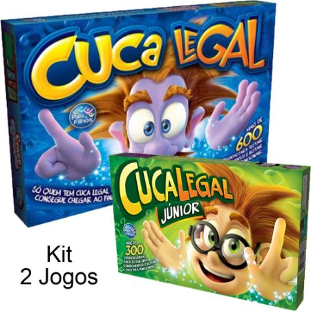 Kit 2 Jogos Cuca Legal Master + Jogo Cuca Legal Junior