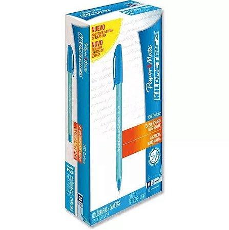 Kit c/ 12 Caneta Esferográfica Kilometrica 1.0 Preta - 125520