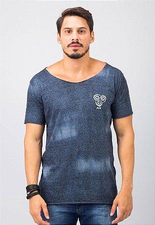 T-Shirt Tie Dye Gola Canoa Azul Air