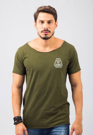 Camiseta Gola Canoa Verde Earth