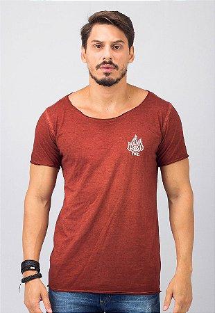 Camiseta Gola Canoa Vermelha Fire