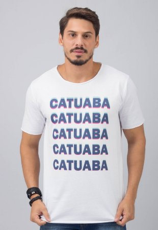 Camiseta Gola Redonda a Fio Branca Catuaba