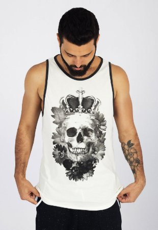 Camiseta Regata Tradicional Off-White King Skull