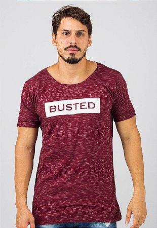 Camiseta Gola Canoa Vinho Busted Leaked