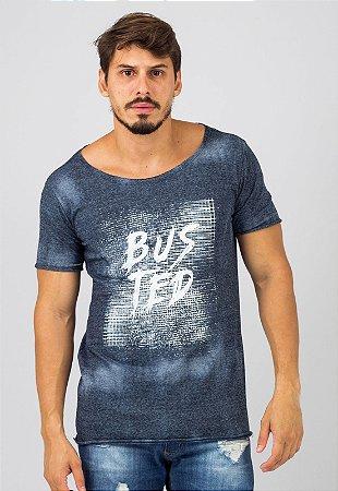 Camiseta Tie Dye Azul Busted Grade