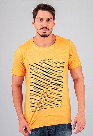 Camiseta Gola Tradicional Amarela Paus