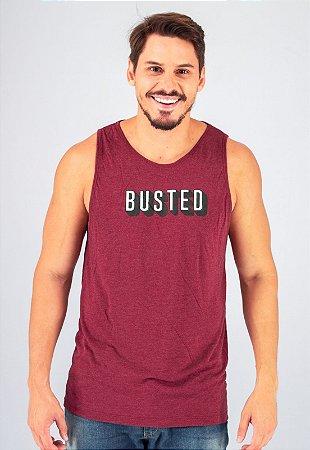 Camiseta Regata Tradicional Vermelha Busted