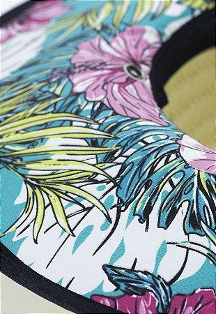 Chapéu de Palha Color Floral