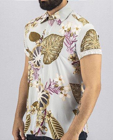 Camisa de Botão Floral Masculina