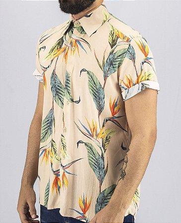 Camisa Estampada Masculina Tropical