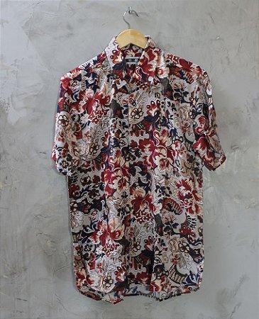 Camisa de Botão Floral Caloroso