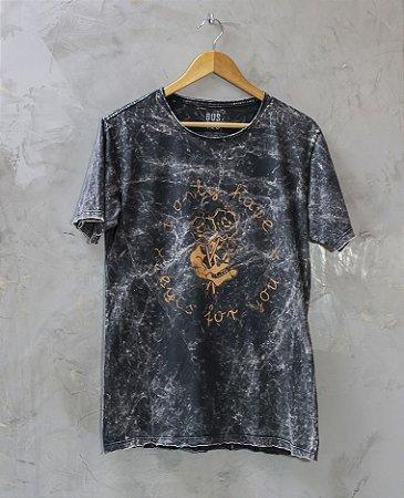 Camiseta Gola Redonda a Fio Preta Eyes for You