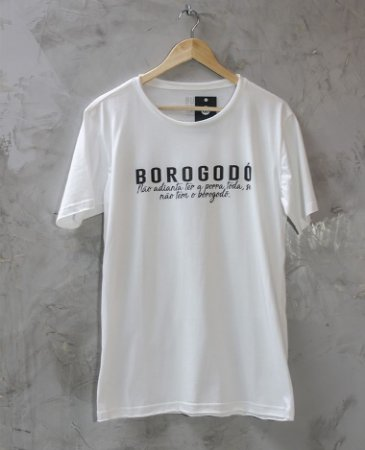 Camiseta Gola Redonda a Fio Branca Borogodó