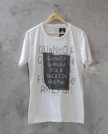 Camiseta Gola Redonda a Fio Branca Química Boa